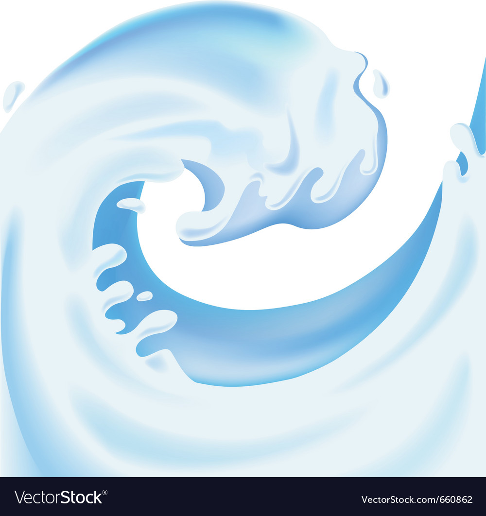 Rising splash of yougurt vector | Price: 1 Credit (USD $1)