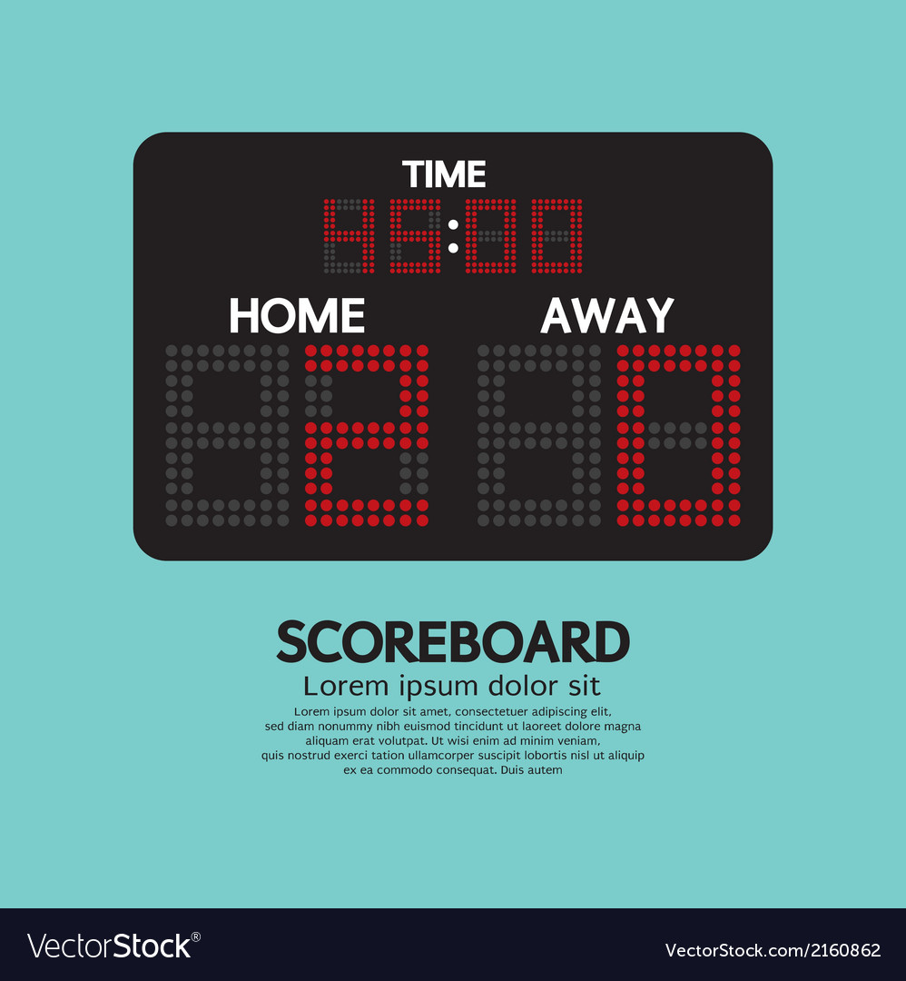 Scoreboard sport vector | Price: 1 Credit (USD $1)