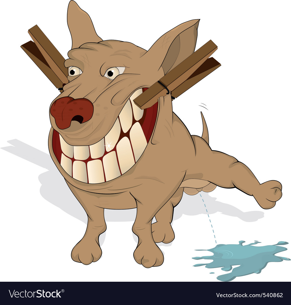 Very cheerful doggie vector | Price: 3 Credit (USD $3)
