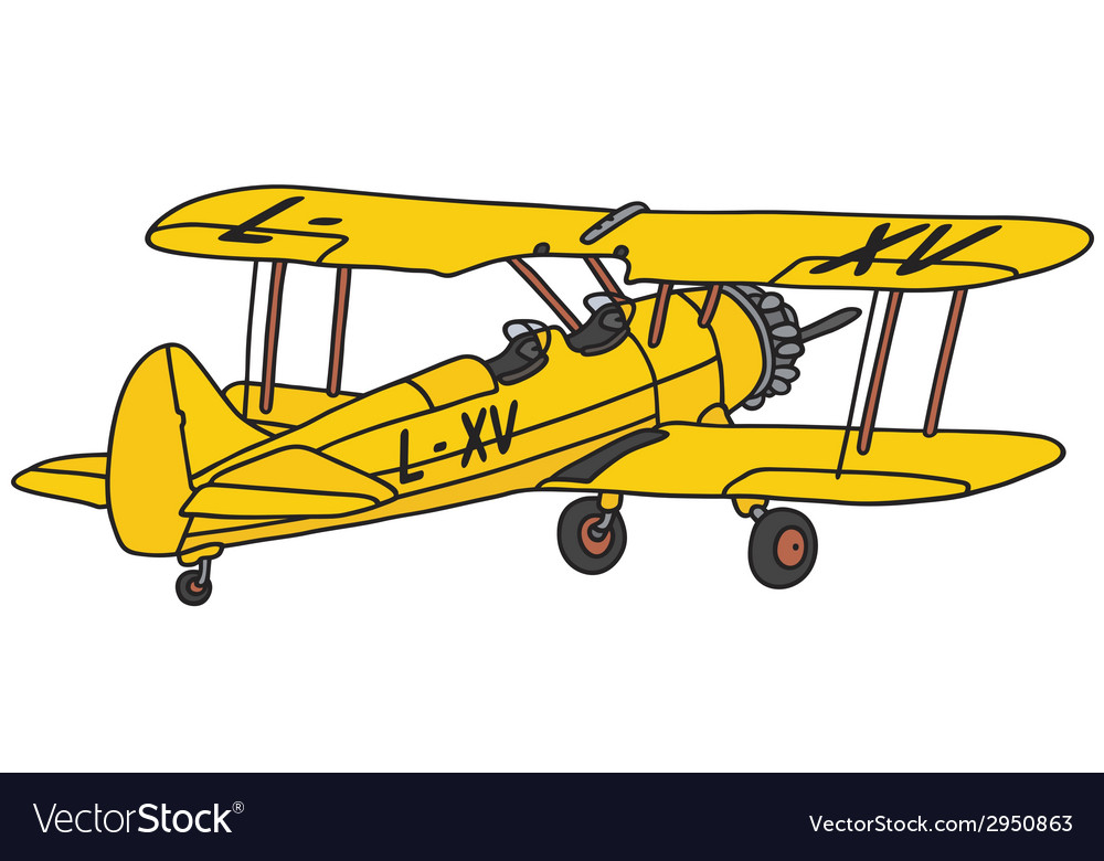 Biplane vector | Price: 1 Credit (USD $1)