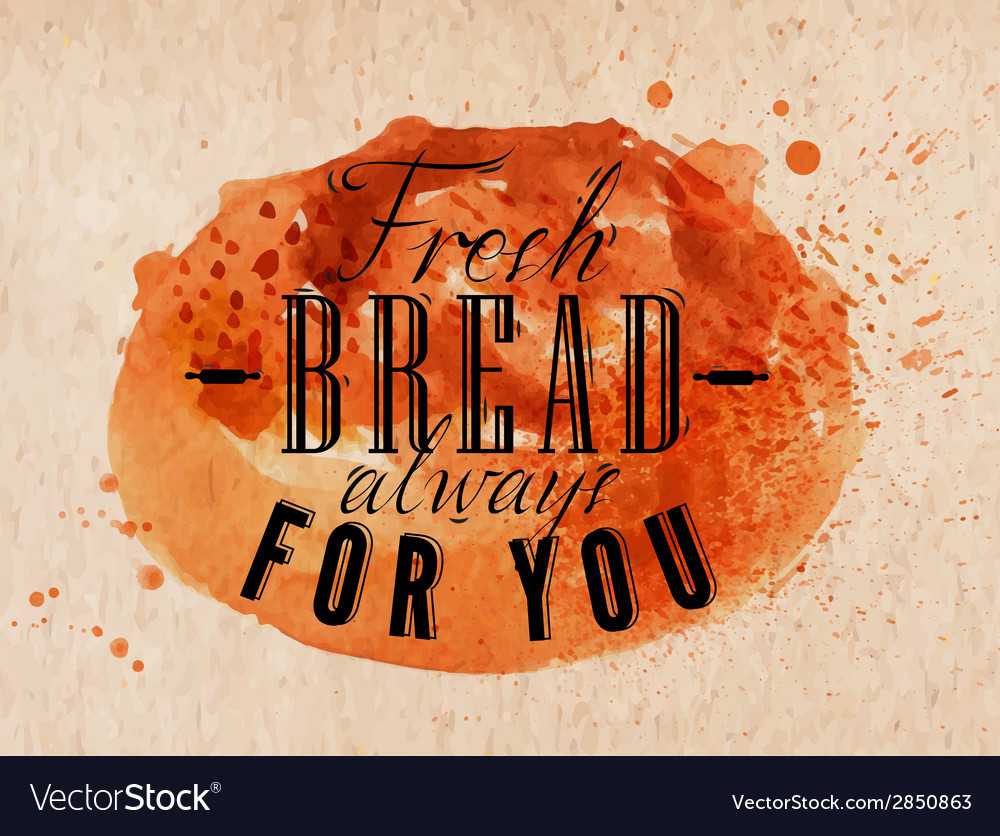 Bread poster kraft vector | Price: 1 Credit (USD $1)