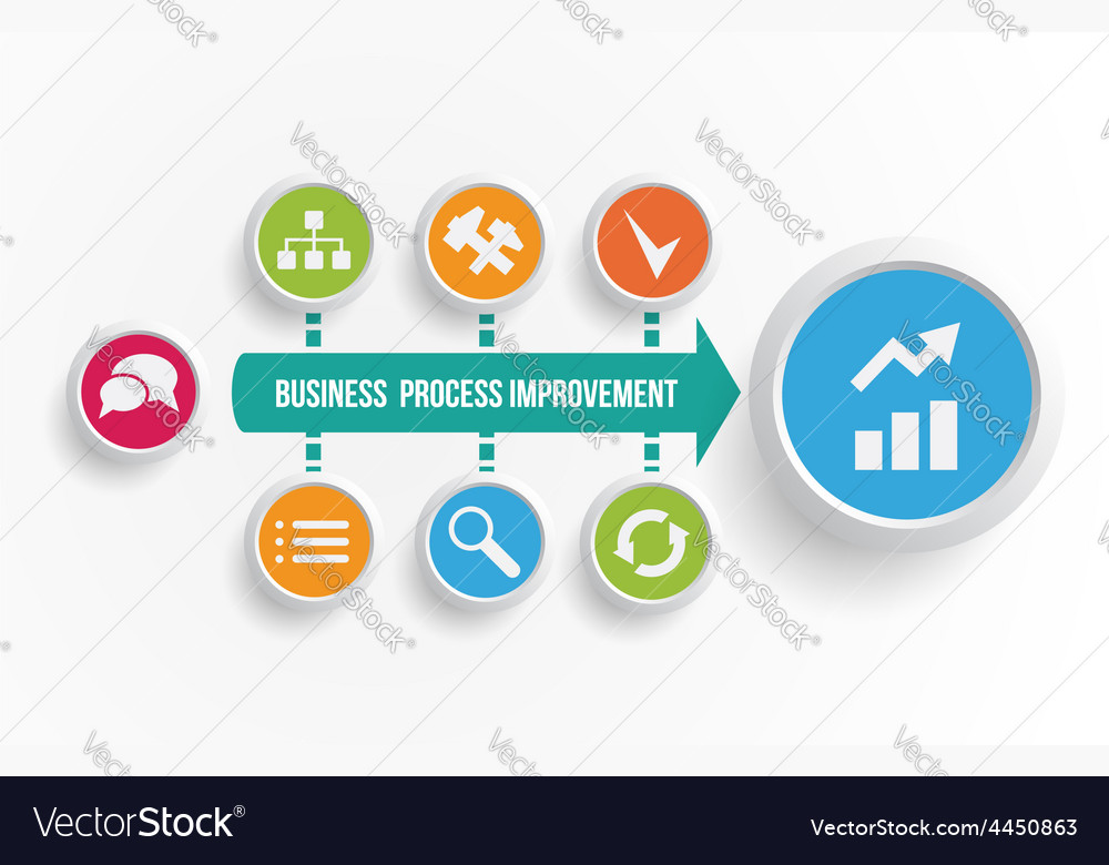 Business process improvement icons vector | Price: 1 Credit (USD $1)
