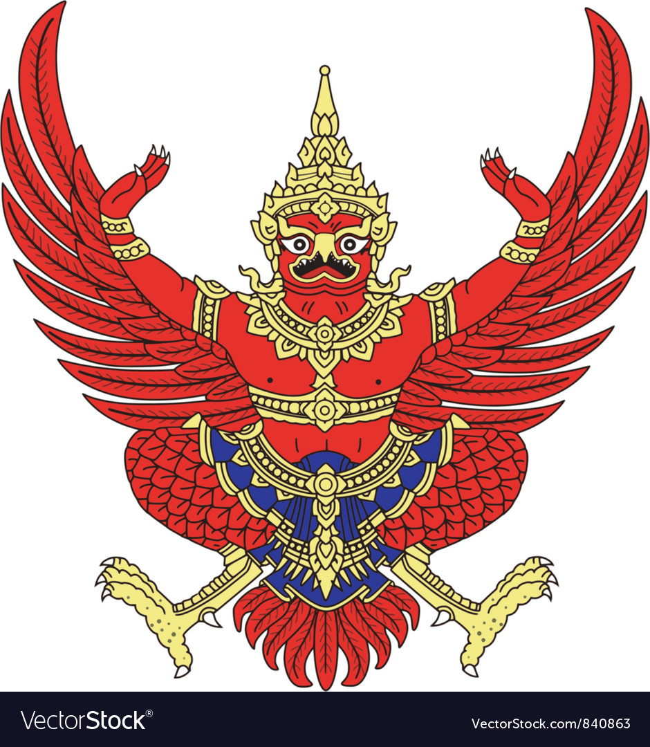 Coat of arms of thailand vector | Price: 3 Credit (USD $3)