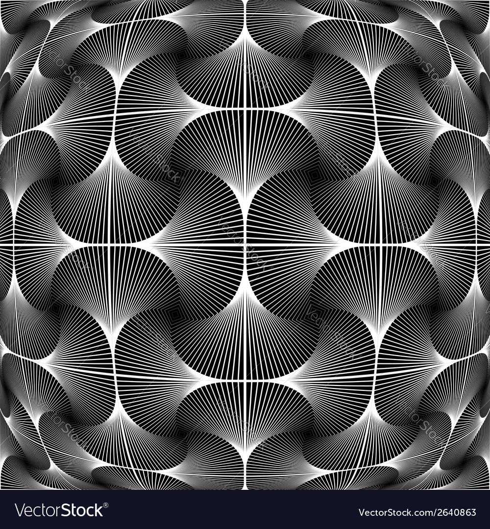 Design monochrome warped grid decorative pattern vector | Price: 1 Credit (USD $1)