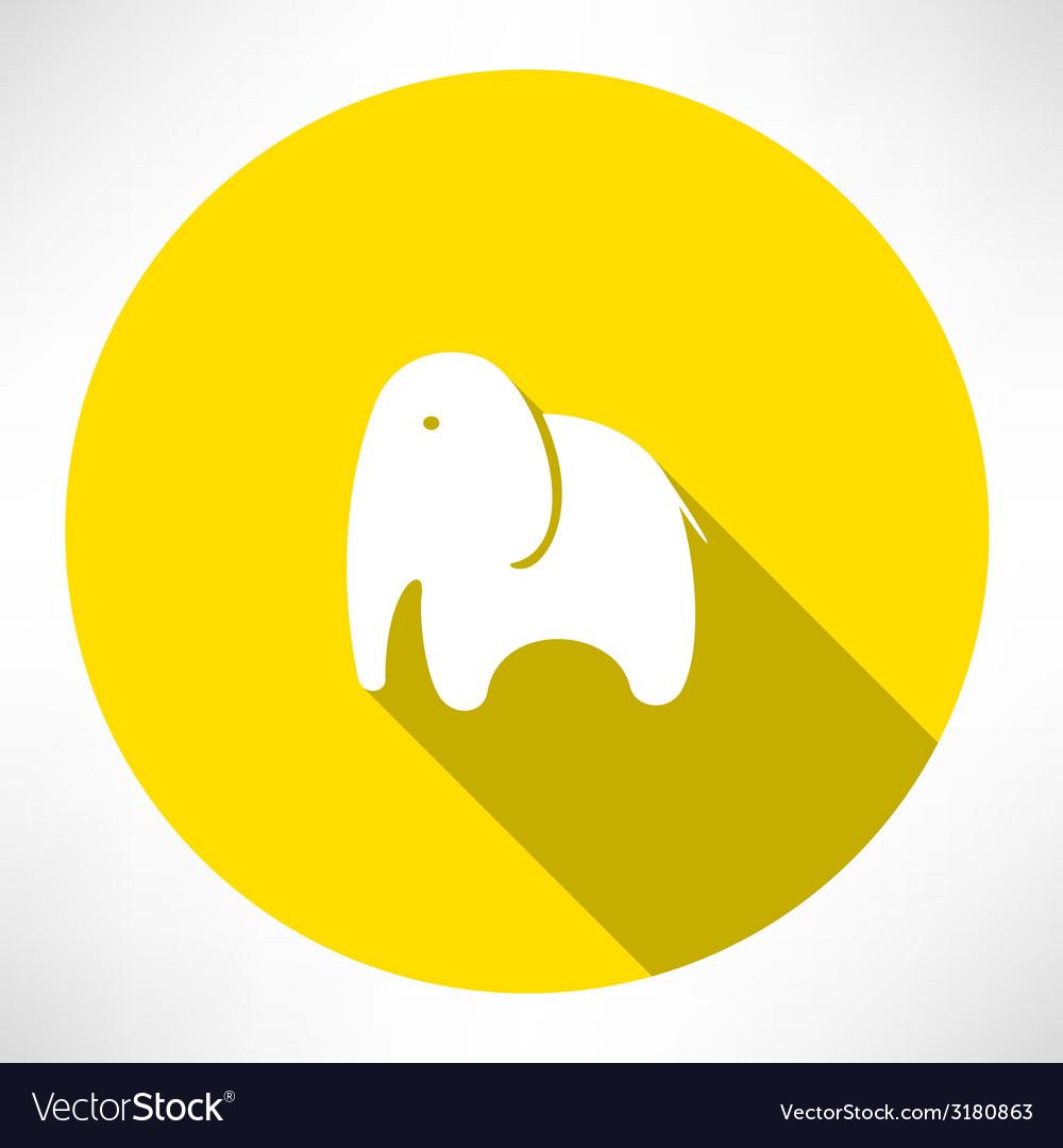 Elephant icon vector | Price: 1 Credit (USD $1)