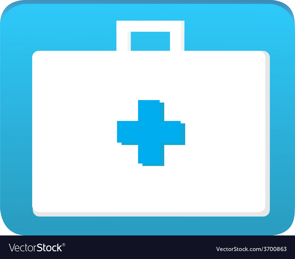 First aid bag icon vector | Price: 1 Credit (USD $1)
