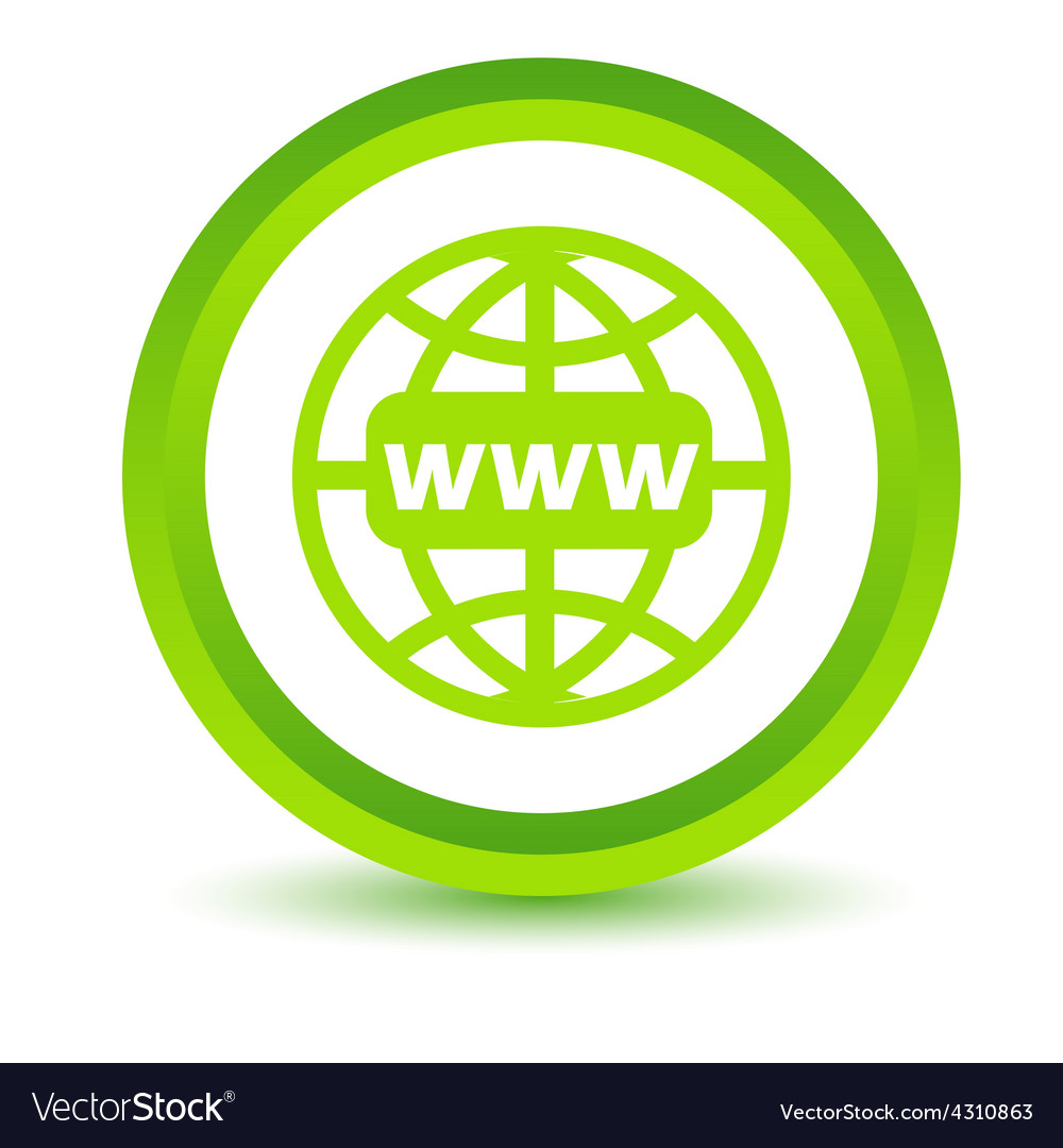 Green www icon vector | Price: 1 Credit (USD $1)