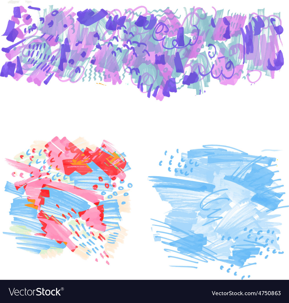 Hand-drawn marker stains vector | Price: 1 Credit (USD $1)