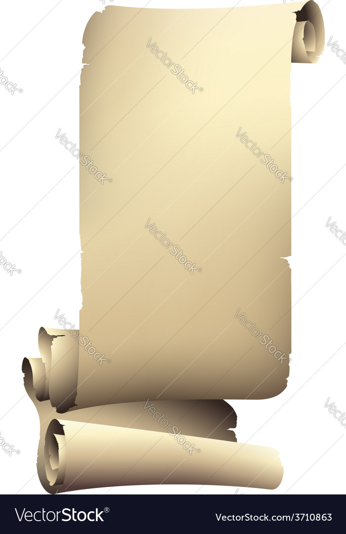 Old paper rolled banner drawing vector | Price: 1 Credit (USD $1)