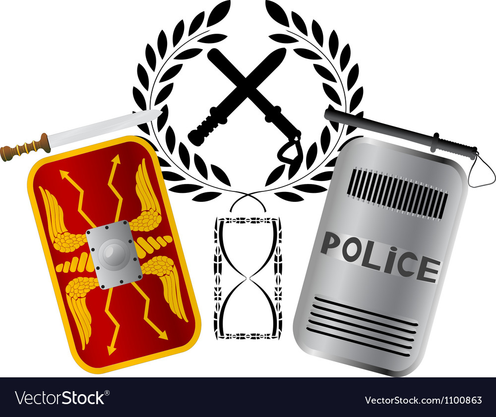 Roman and police shields vector | Price: 1 Credit (USD $1)