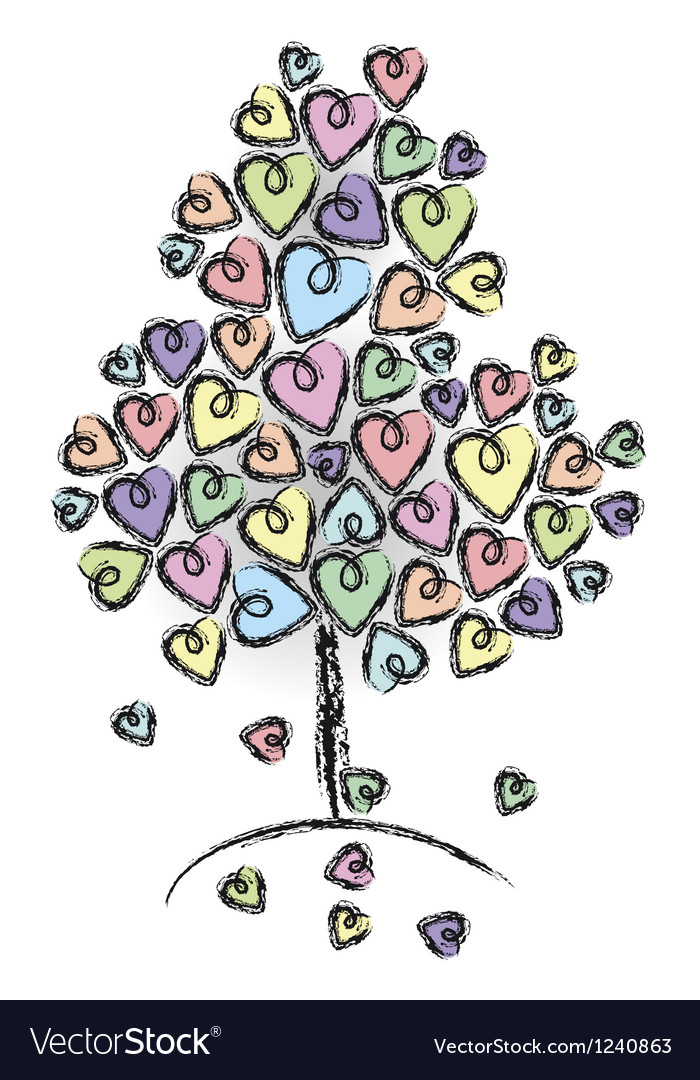 Tree love vector | Price: 1 Credit (USD $1)