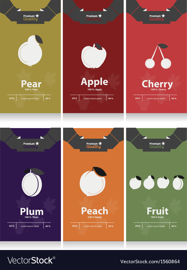 Autumn fruits labels vector   Price: 1 Credit (USD $1)