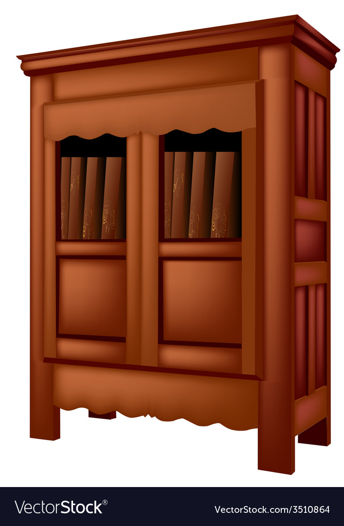 Bookcase antique vector | Price: 1 Credit (USD $1)