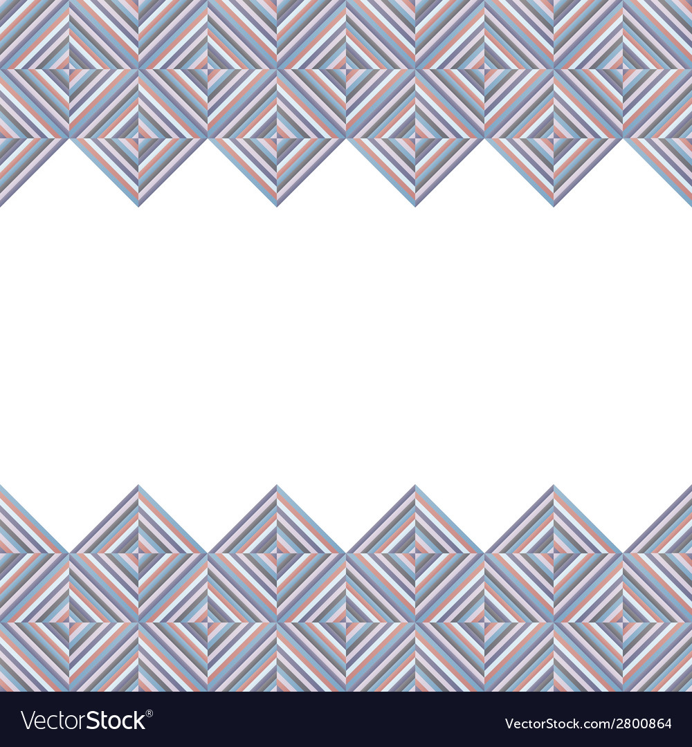 Card with rhombus decoration vector | Price: 1 Credit (USD $1)
