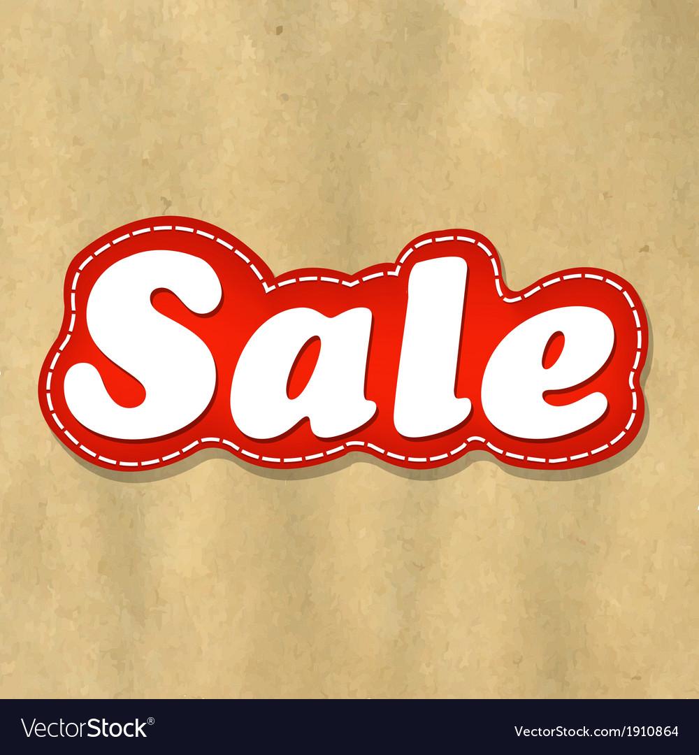 Cardboard structure label sale vector | Price: 1 Credit (USD $1)