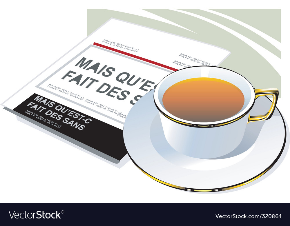 Coffee and newspaper vector | Price: 3 Credit (USD $3)