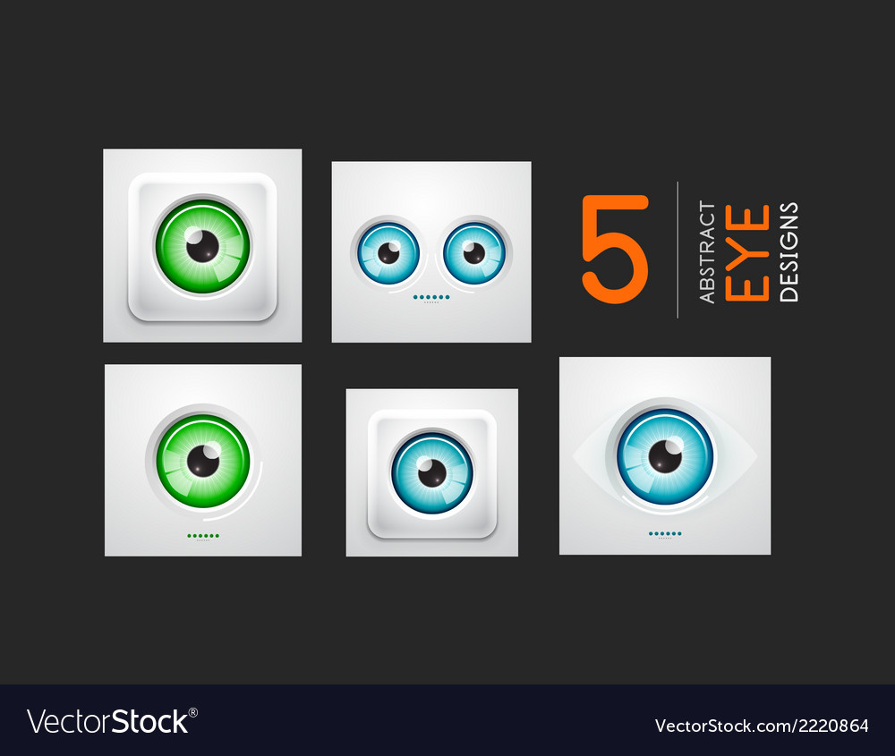 Eye design hi-tech concepts collection vector | Price: 1 Credit (USD $1)
