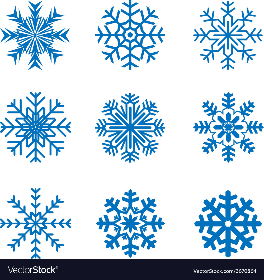 Frosty snowflakes vector | Price: 1 Credit (USD $1)