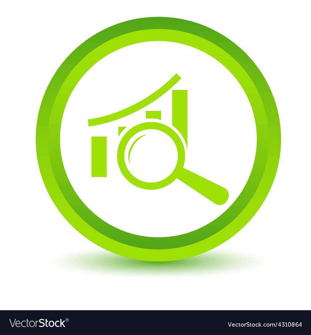 Green graph scan icon vector | Price: 1 Credit (USD $1)