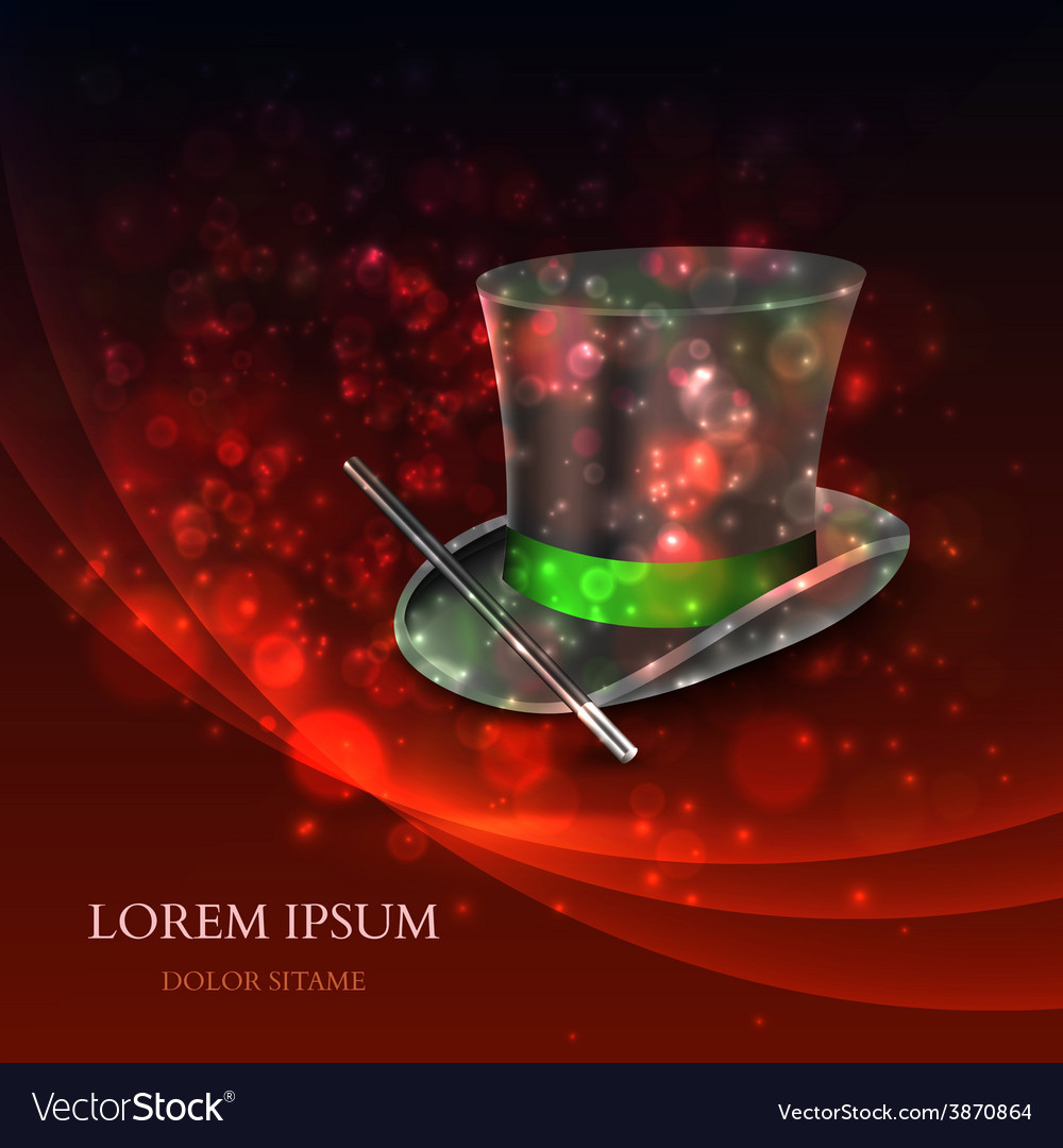 Magician top hat with magic particles vector | Price: 1 Credit (USD $1)