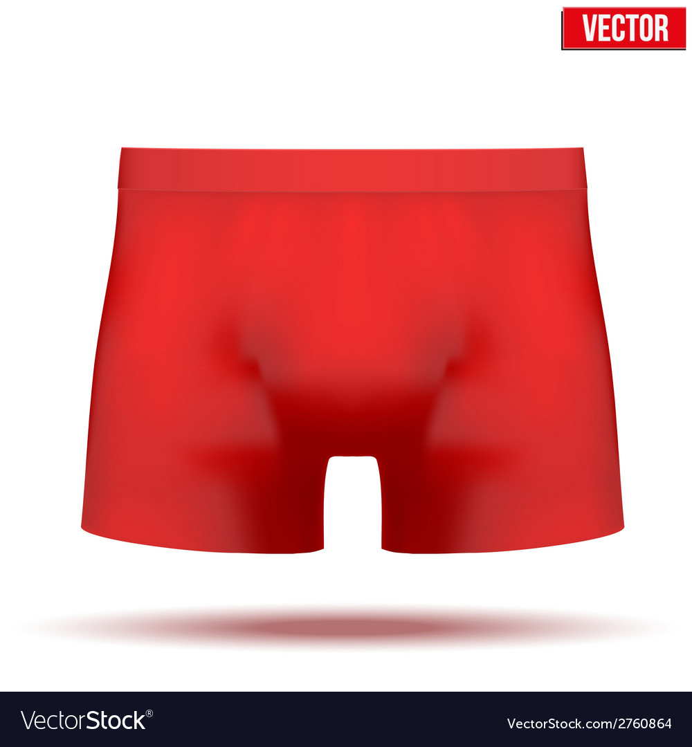 Male red underpants brief isolated on background vector | Price: 1 Credit (USD $1)