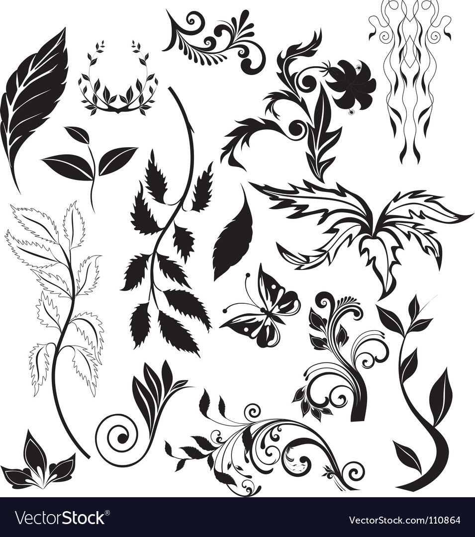 Nature elements vector | Price: 1 Credit (USD $1)