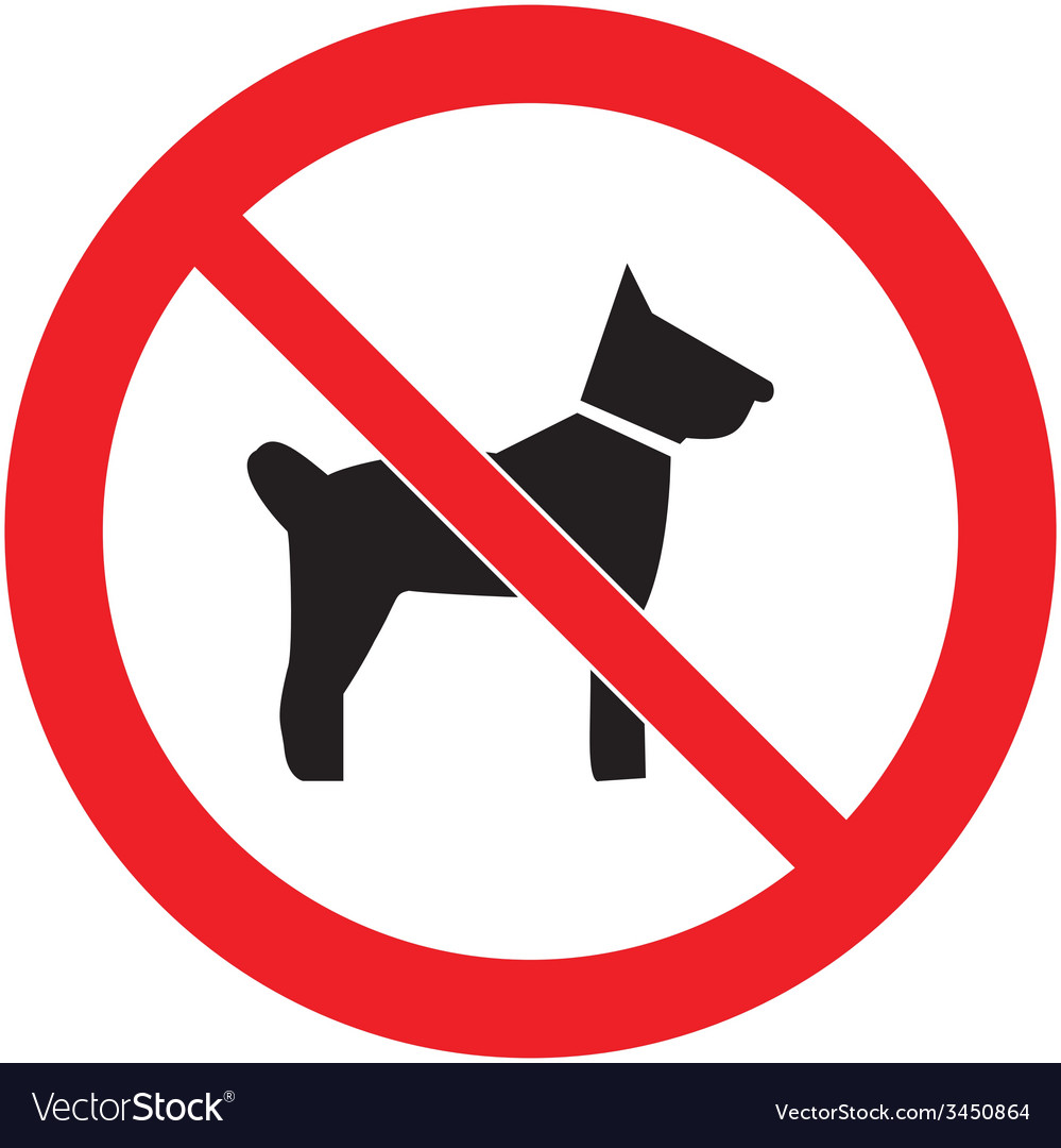 No dogs sign vector | Price: 1 Credit (USD $1)