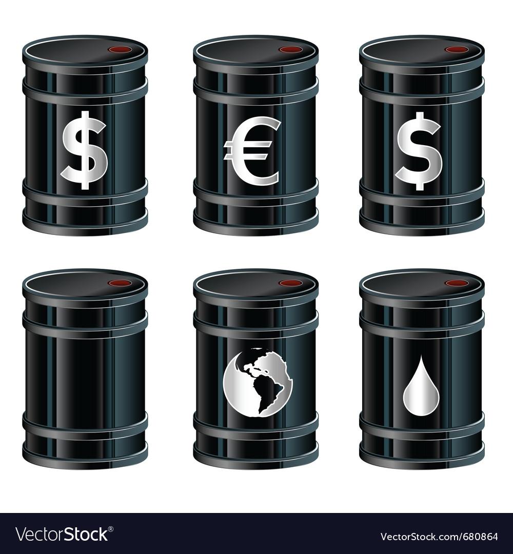 Oil drum vector | Price: 1 Credit (USD $1)