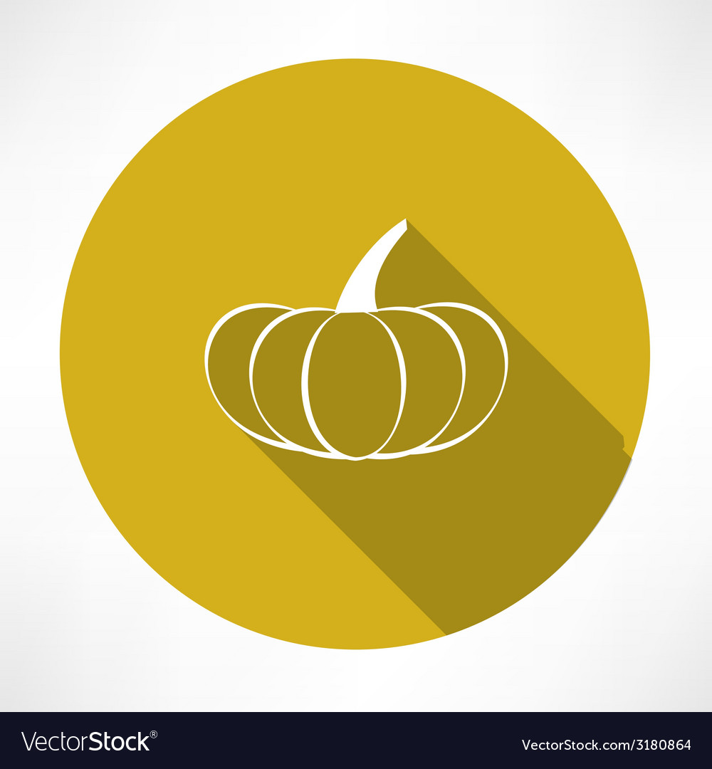Pumpkin icon vector   Price: 1 Credit (USD $1)