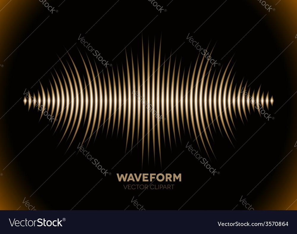 Sepia sound waveform vector | Price: 1 Credit (USD $1)