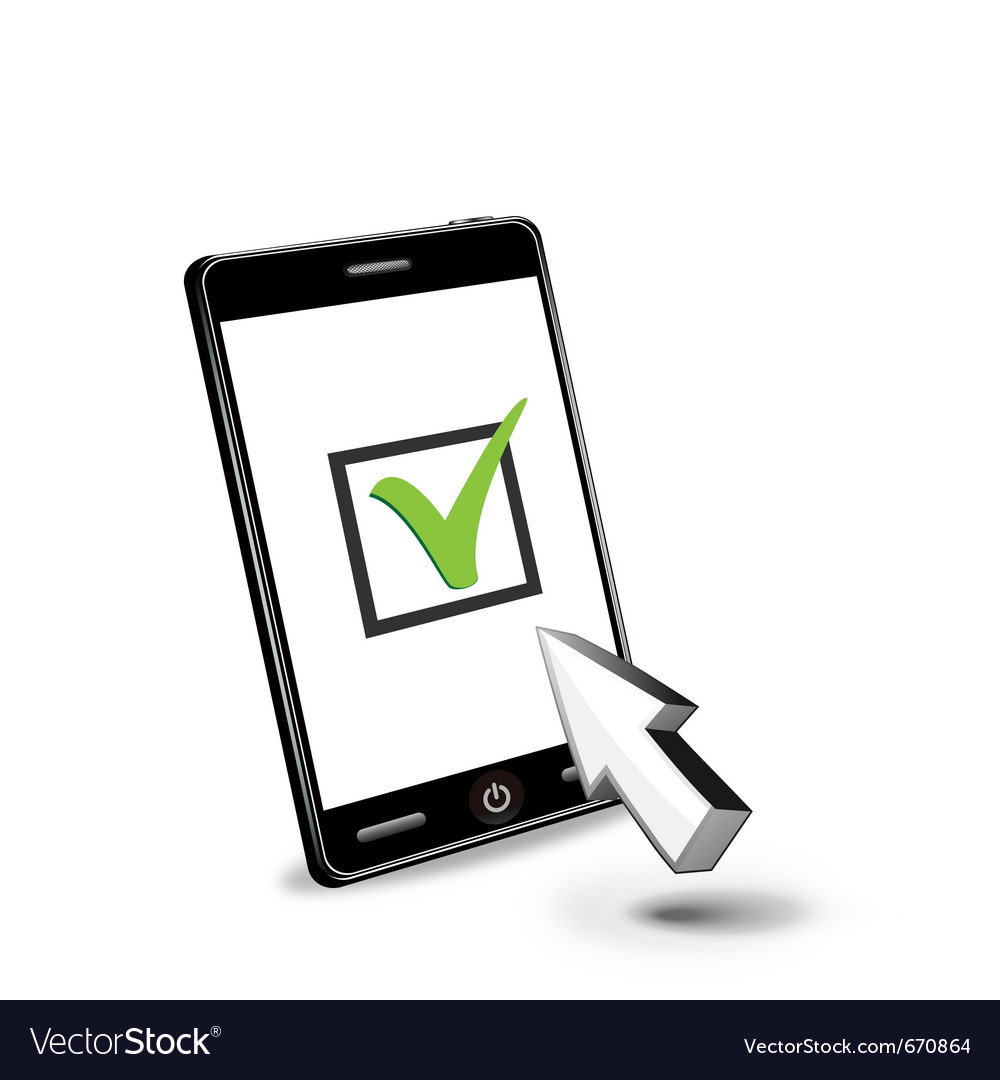Smart phone and checkbox vector | Price: 1 Credit (USD $1)