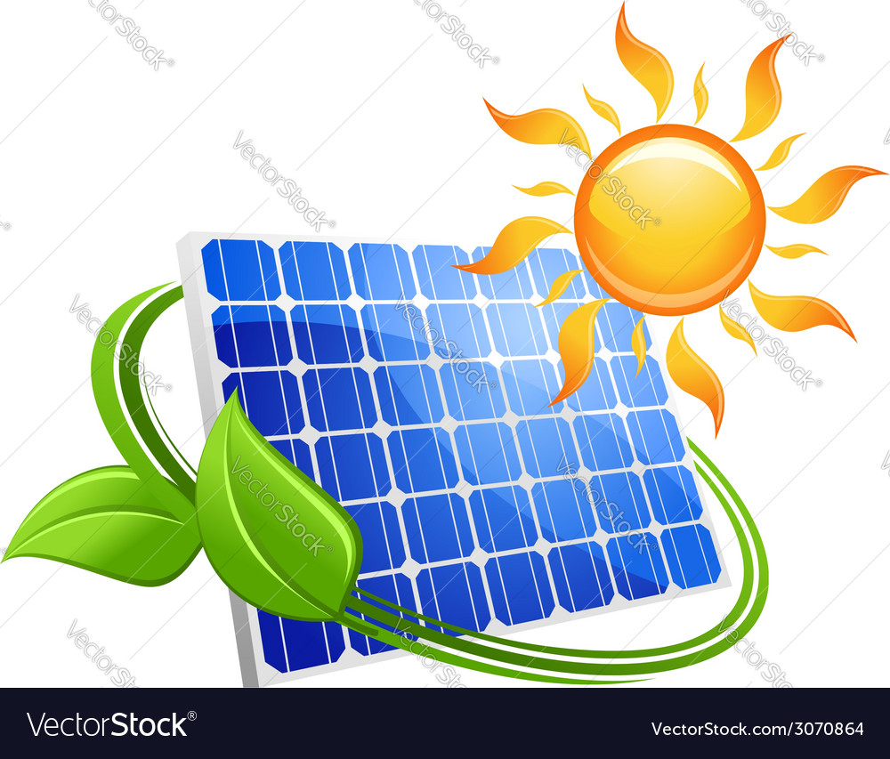 Solar energy eco concept vector | Price: 1 Credit (USD $1)