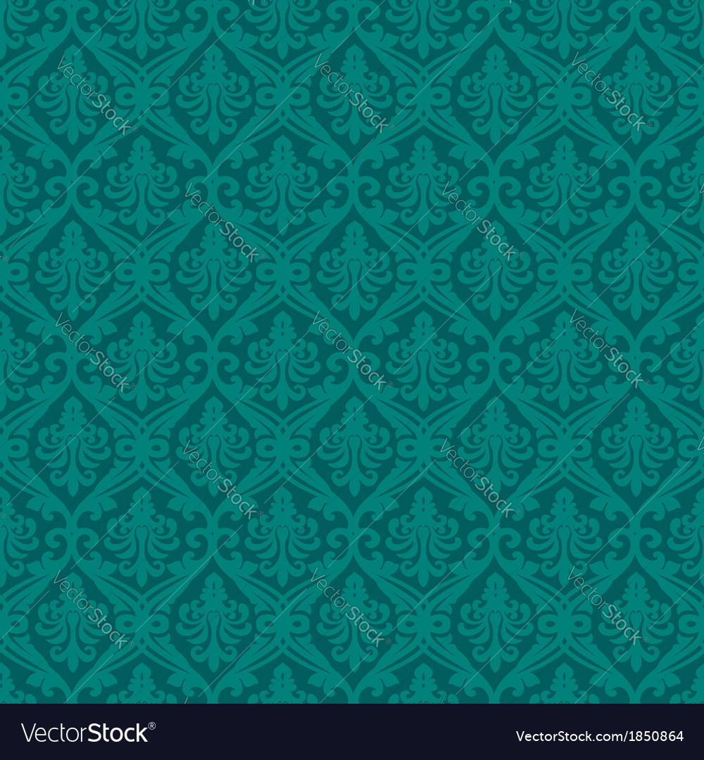 Turquoise seamless royal background vector | Price: 1 Credit (USD $1)