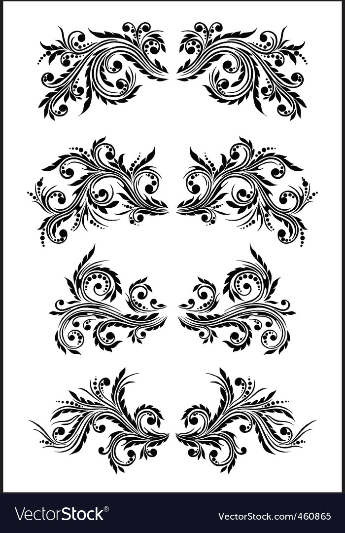 flourish set part 2 vector | Price: 1 Credit (USD $1)