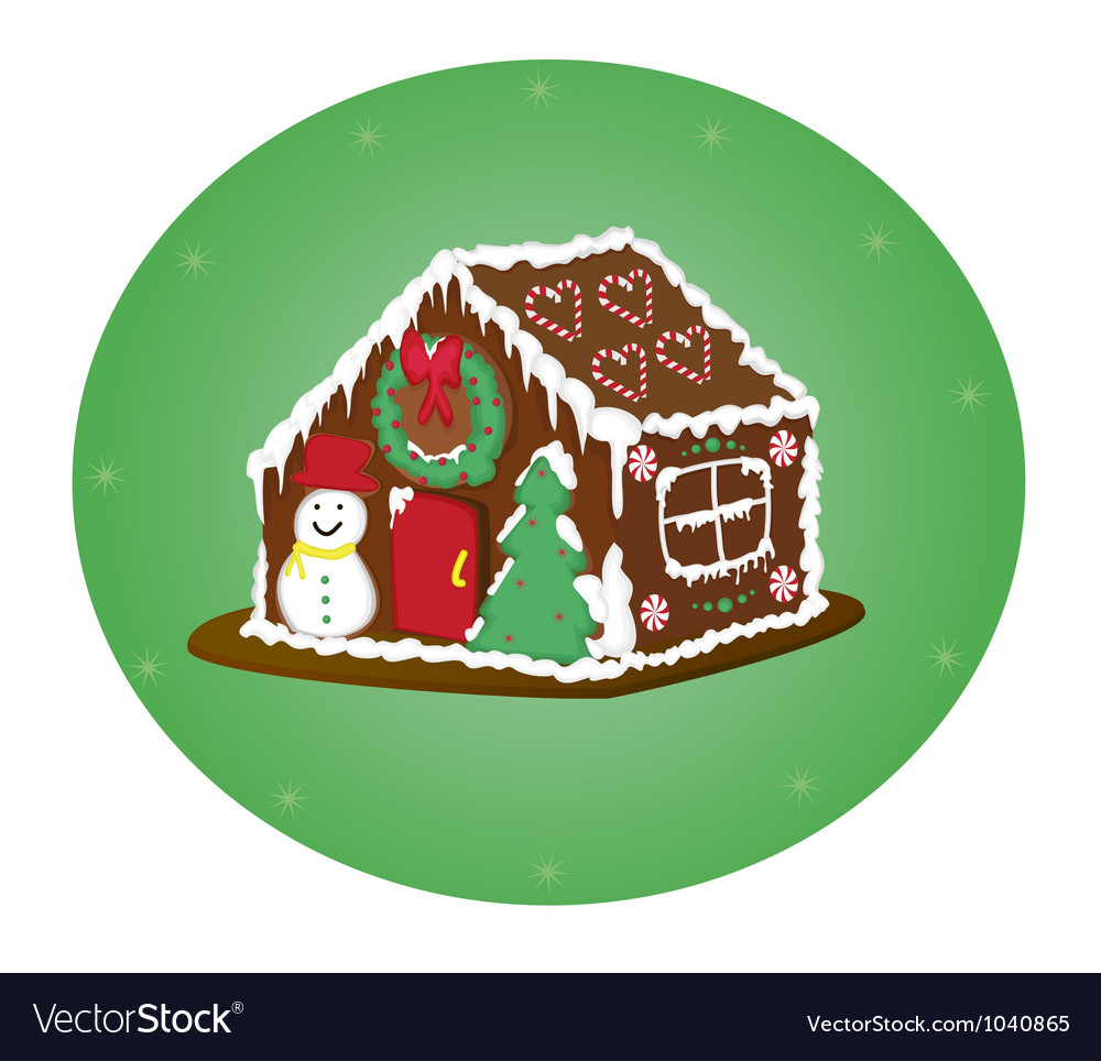Gingerbreag house vector
