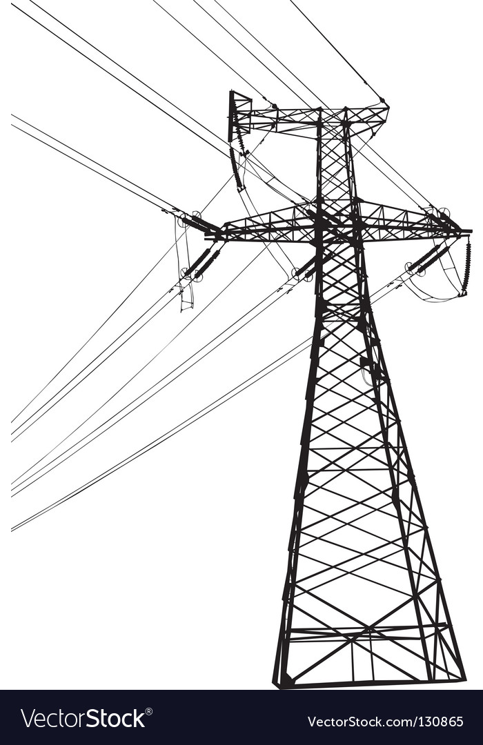 High voltage electric line vector | Price: 1 Credit (USD $1)