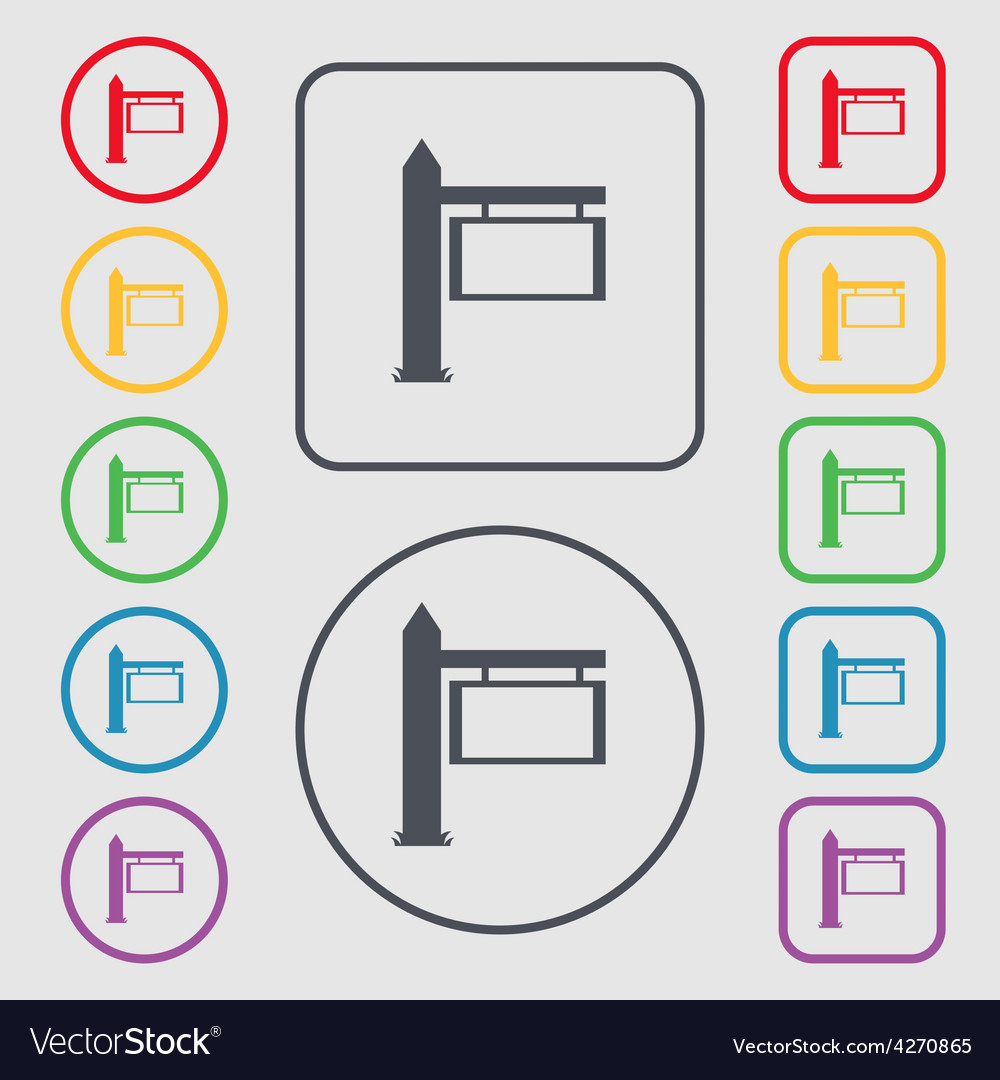 Information road sign icon sign symbol on the vector | Price: 1 Credit (USD $1)