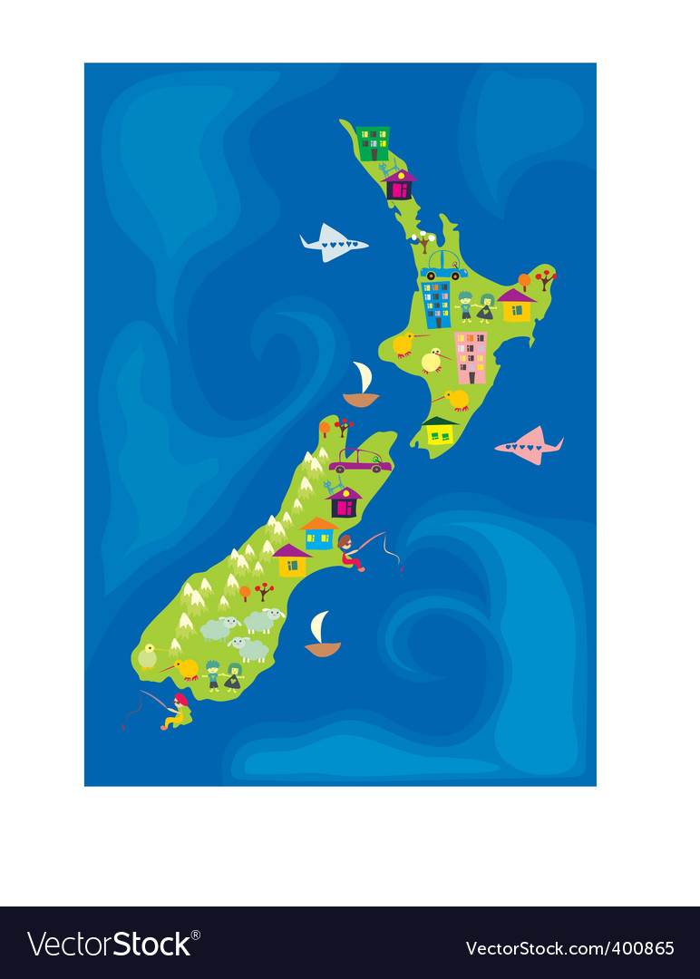 New zealand vector | Price: 3 Credit (USD $3)