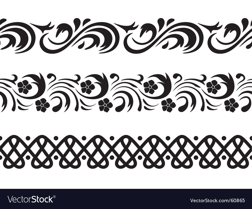 Seamless border vector | Price: 1 Credit (USD $1)