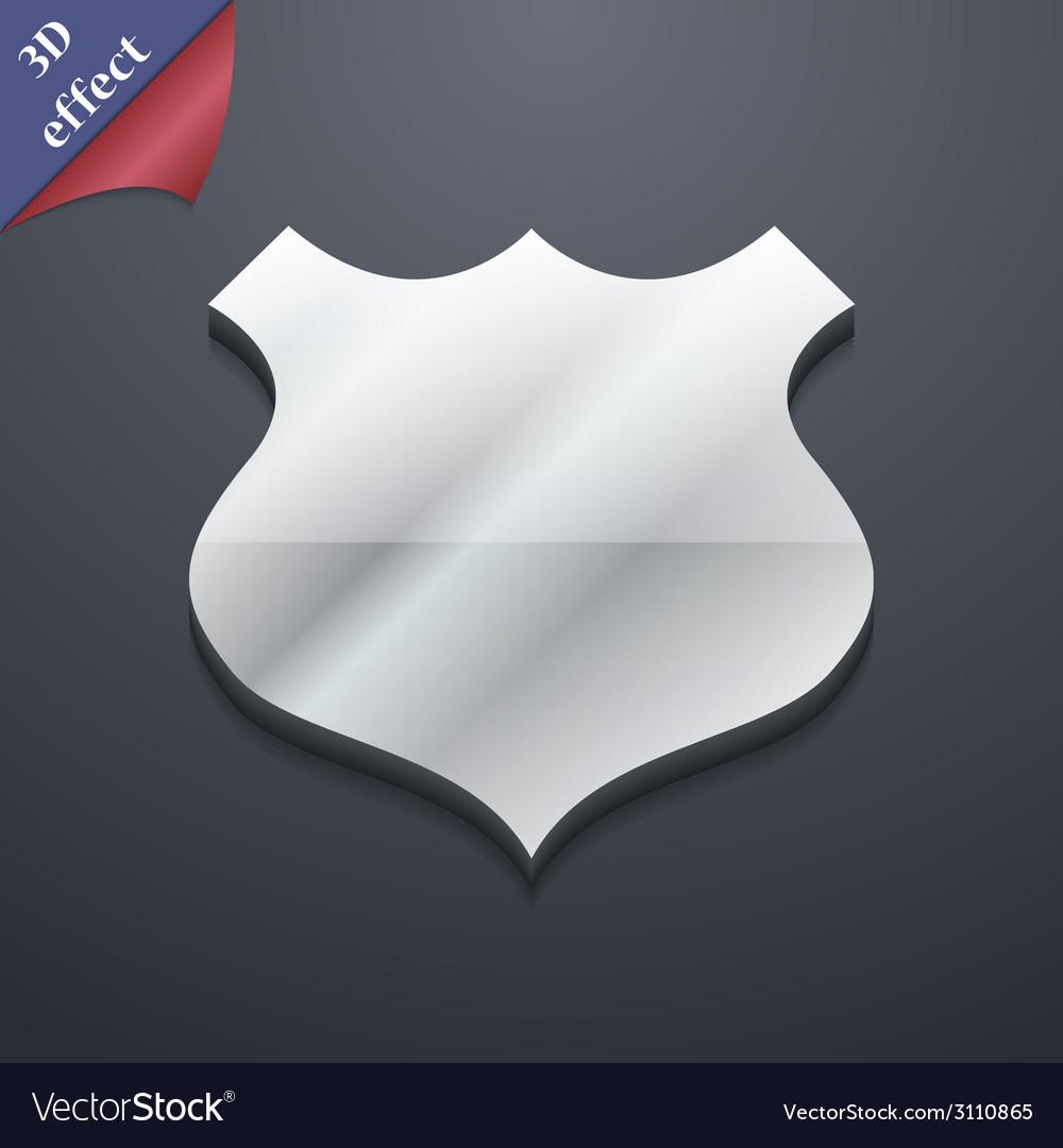 Shield icon symbol 3d style trendy modern design vector | Price: 1 Credit (USD $1)