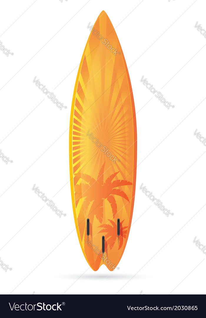Surfboard 02 vector | Price: 1 Credit (USD $1)