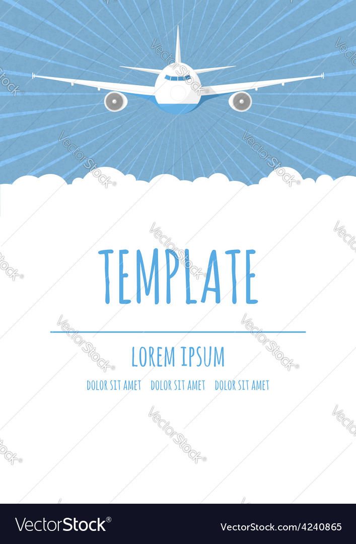 Travel poster template vector | Price: 1 Credit (USD $1)