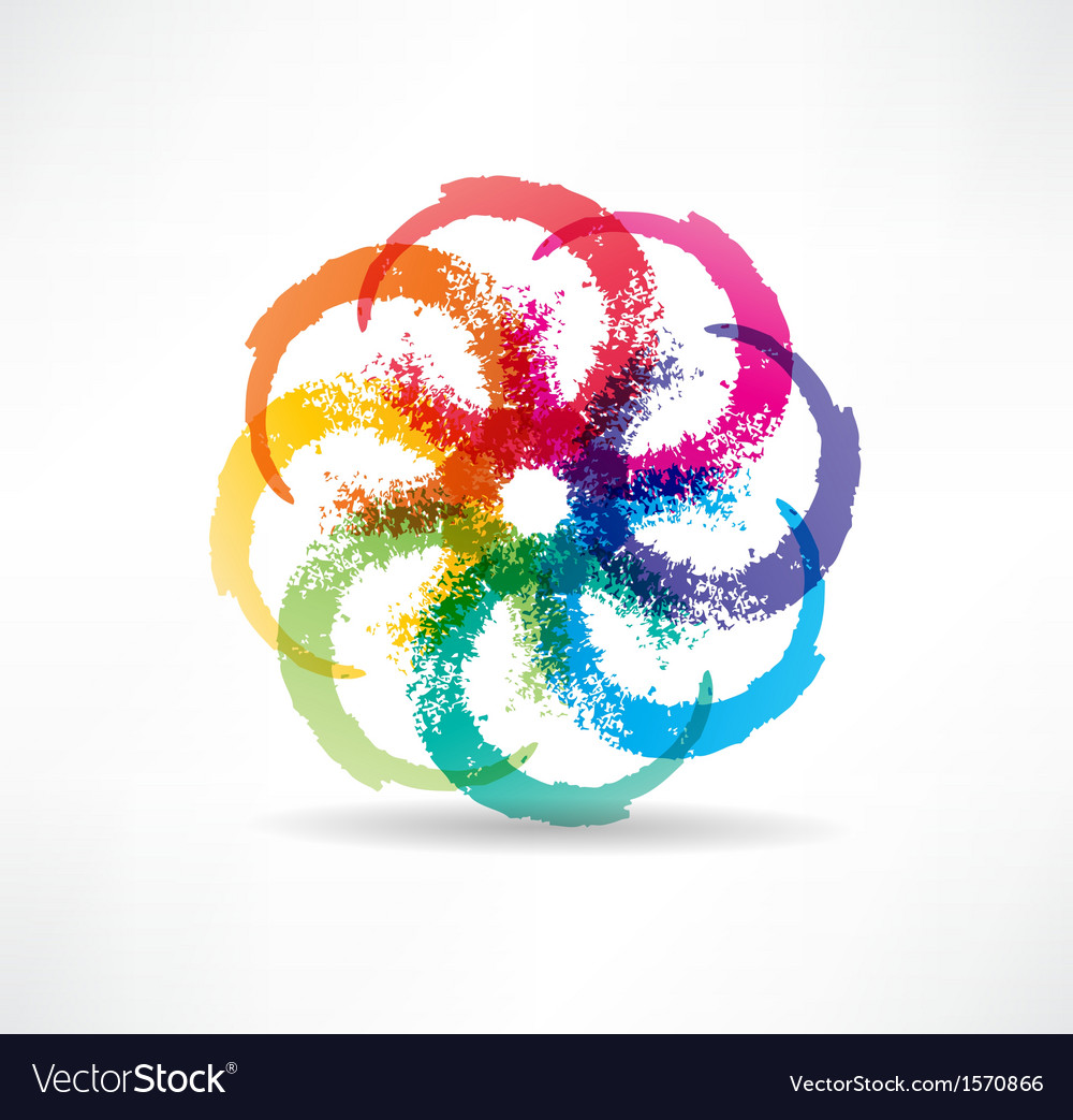 Abstract color icon vector | Price: 1 Credit (USD $1)