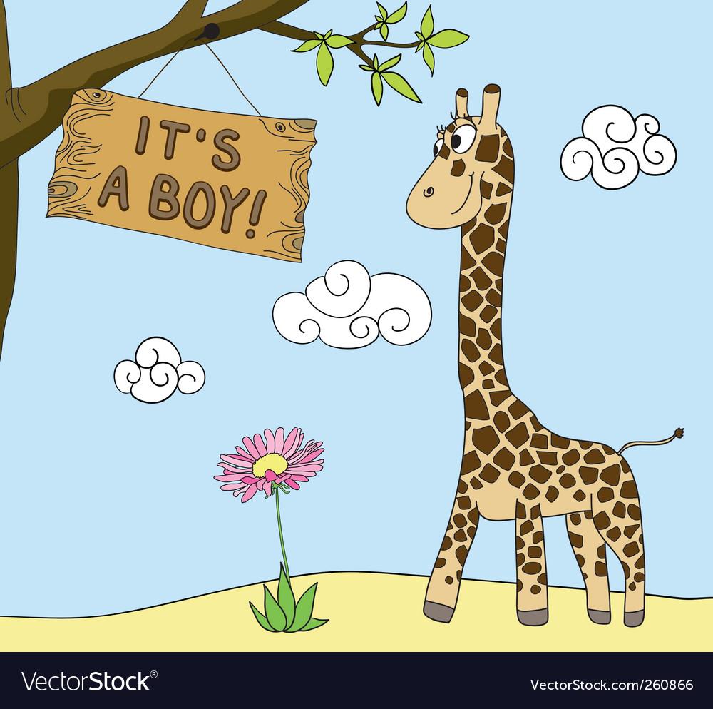Boy arrival vector | Price: 3 Credit (USD $3)