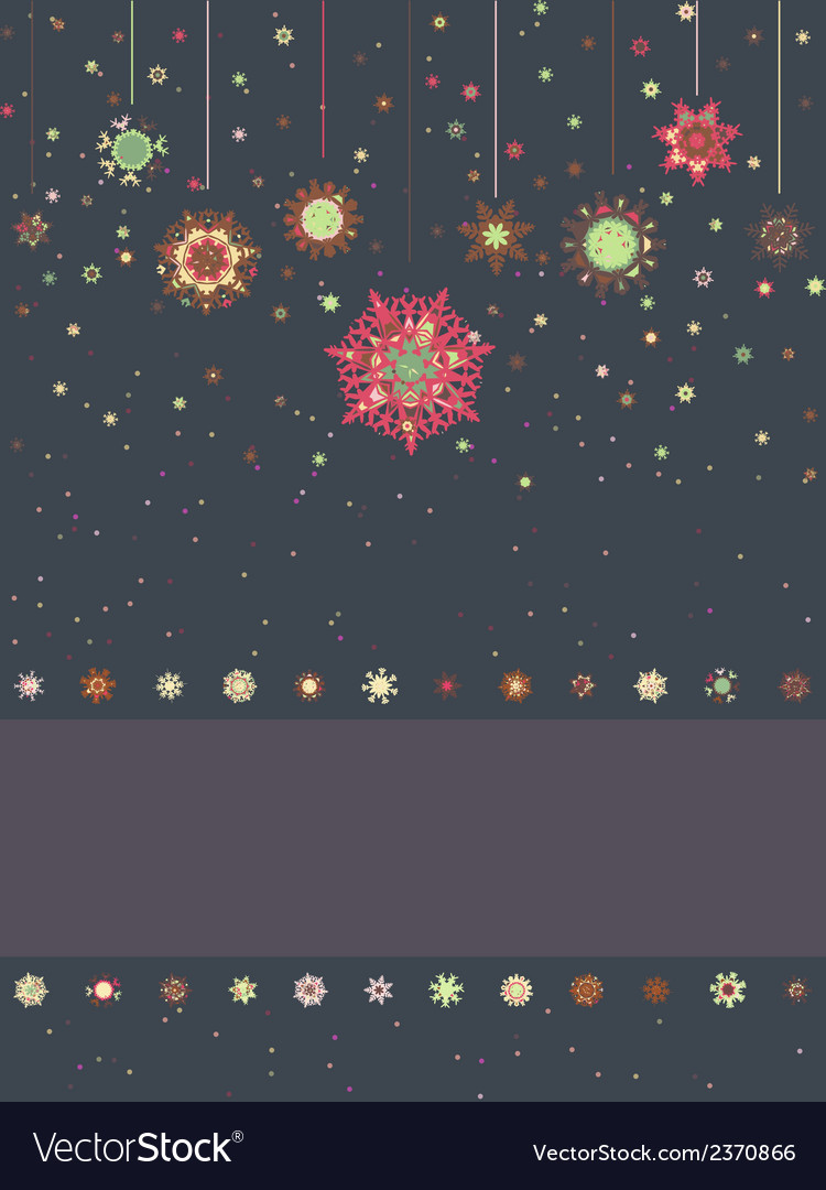 Christmas card with snowflakes eps 8 vector   Price: 1 Credit (USD $1)