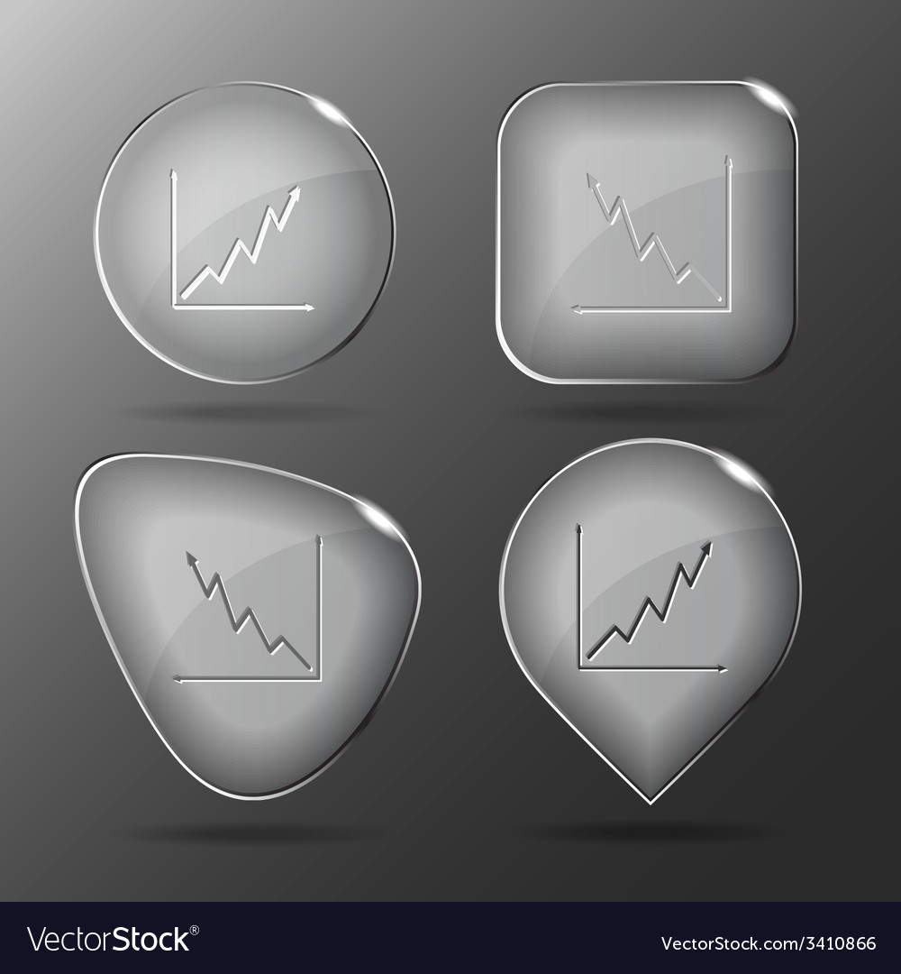 Diagram glass buttons vector | Price: 1 Credit (USD $1)