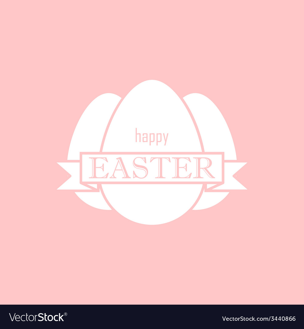 Easter with eggs and ribbon happy easter vector | Price: 1 Credit (USD $1)