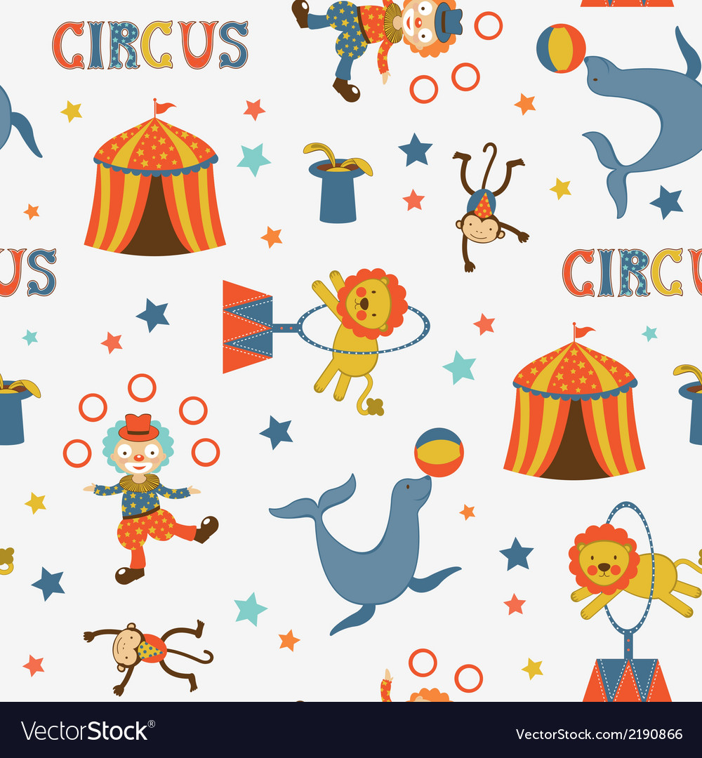 Fun circus pattern vector | Price: 1 Credit (USD $1)