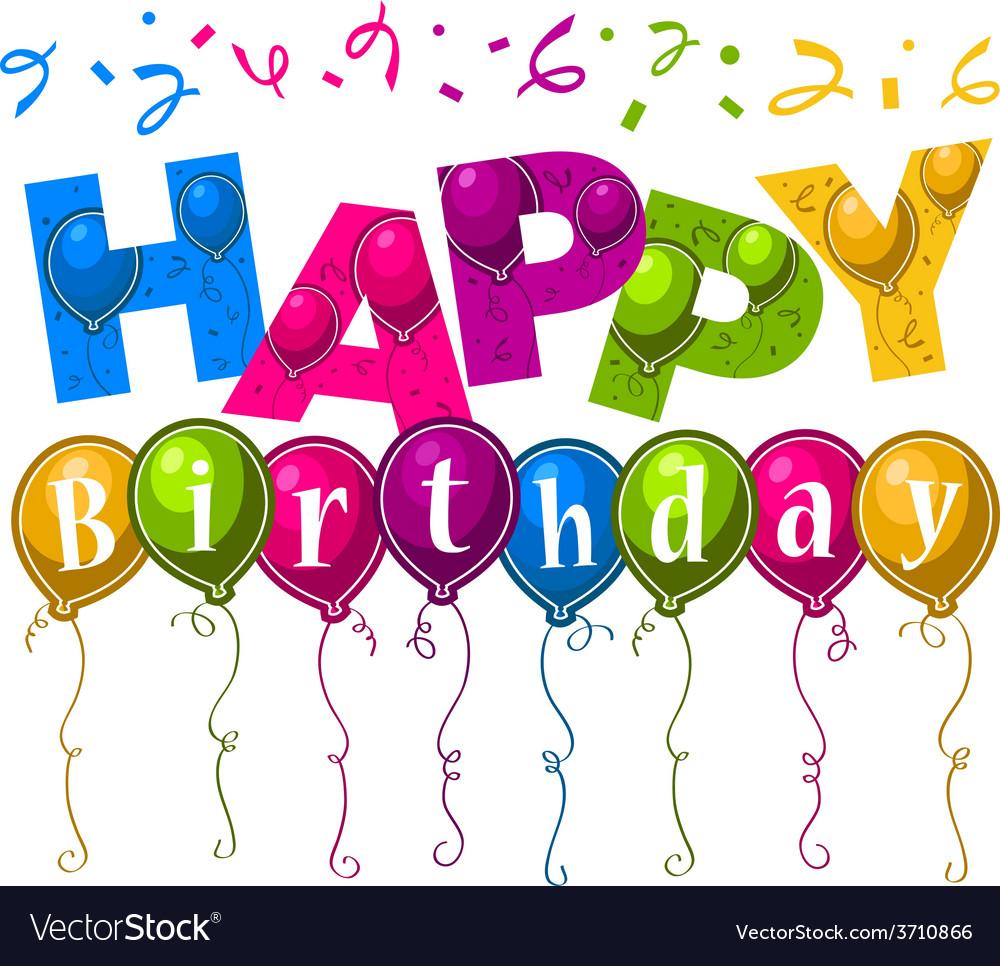 Happy birthday greeting card vector | Price: 1 Credit (USD $1)