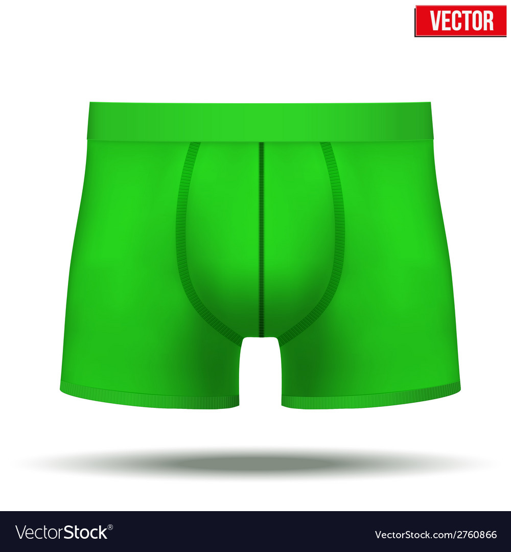 Male green underpants brief isolated on background vector | Price: 1 Credit (USD $1)